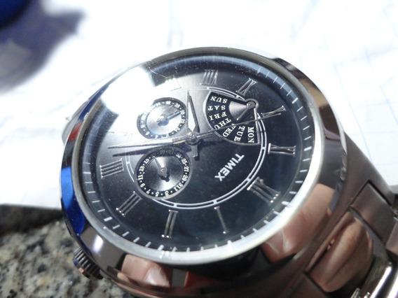 Relógio Timex Clássico Numero Romanos Aço Novo