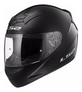 Casco Moto Integral Ls2 352 Negro Brillo Single Mono