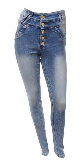 Calça Jeans Skinny Cós Alto