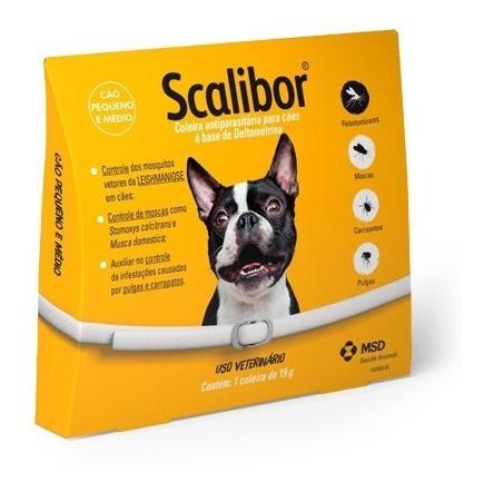 Coleira Antiparasitária Scalibor 19g - 48 Cm - Msd
