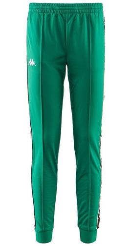 Pantalon Kappa Banda Rastoria Slim Verde Blanco Negro Flex