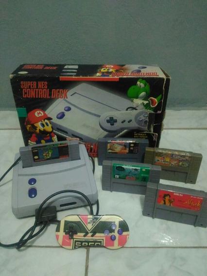 Super Nintendo Baby - OriginalRelíquia C/ Jogos.