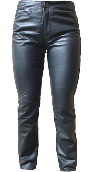 Pantalon Tiro Medio Cuero - Maybe -