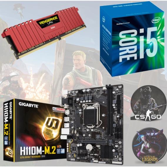 Kit Gamer Intel I5 7400 + Gigabyte H110m M2 + Vg 8gb 2400