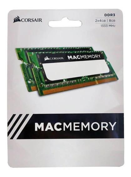 Memória RAM 8GB 2x4GB Corsair CMSA8GX3M2A1333C9