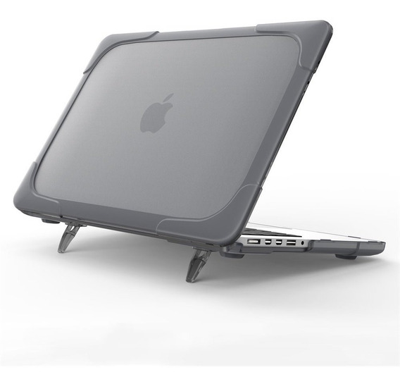 Carcasa Case Funda Macbook Anti Impacto Pro Air Gris Soporte