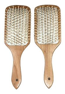 Cepillo Para El Cabello En Madera