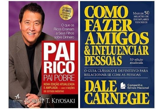 Livro Pai Rico, 20 Anos + Livro Como Fazer Amigos (2 Livros)