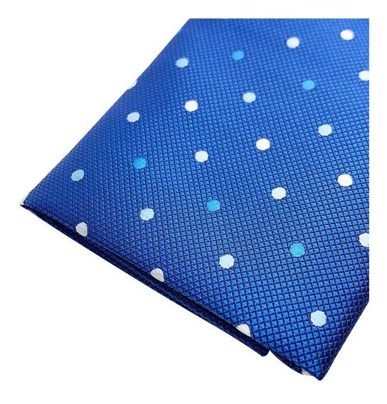 Pañuelos Bolsillo Caballero Seda Poliéster Azul Con Puntos