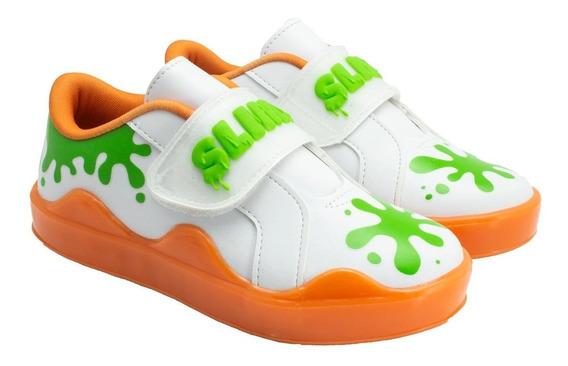 Tênis Slime Infantil C/ Velcro Ludique Et Badin (25 Ao 34)