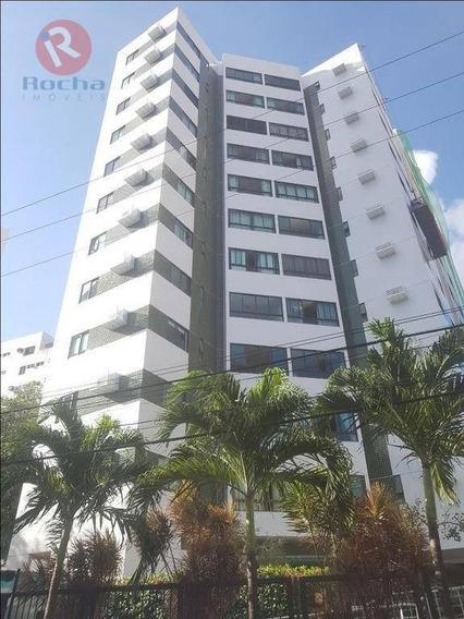Apartamento Com 2 Dormitórios Para Alugar, 78 M² Por R$ 2.400/mês - Graças - Recife/pe - Ap3352