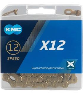 Corrente Kmc X12 Gold 126 Elos Ti-n Dourado Sram 12v Bike