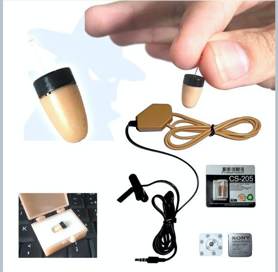 Micro Escuta Ponto Eletrônico De Ouvido Fone Espião