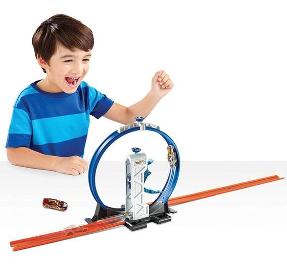 Pista De Carros Hotwheels Track Builder Loop Launcher 35 Vr