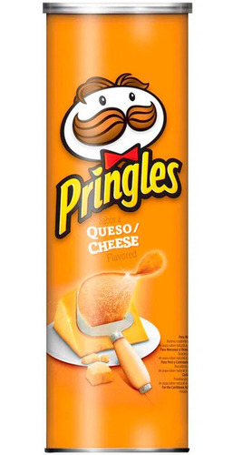 Papas Fritas Pringles Cheddar 124gr Snack Salado Queso