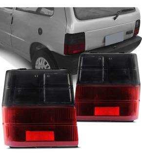 Juego X2 Lente / Acrilico Trasero Fiat Uno 1988 -2004 Fume