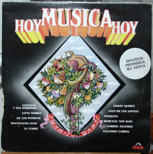 Varios - Hoy Musica - Nebbia / Fontova / La Torre - Lp 1985