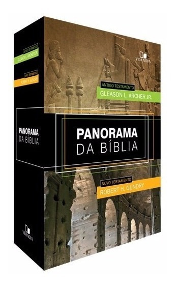 Panorama Da Biblia Box Com 2 Livros Antigo E Novo Testamento