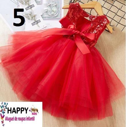Vestido Infantil Vermelho 5 Anos