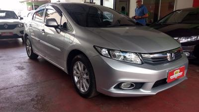 Honda Civic Sedan Lxs 1.8 Prata 2014