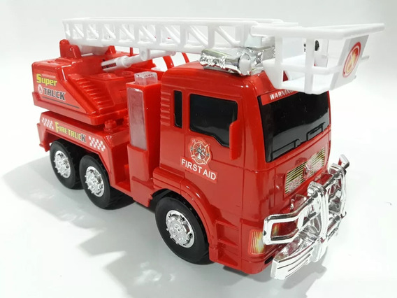 Caminhão Bombeiro Bate E Volta A Pilha Com Som E Luz !