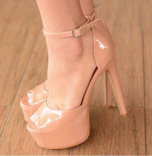 8e94b315d Sandalias Femininas De Salto Fino 15 Cm Tamancos - Sapatos com o ...