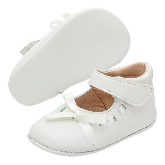 Zapato Merceditas Bebe Niña Lazo Napa Georgie Beige