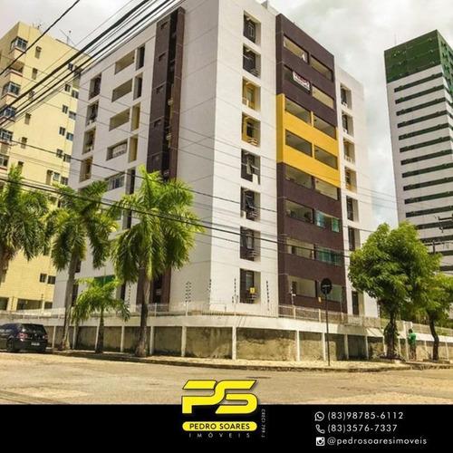 Imagem 1 de 10 de Apartamento Com 2 Dormitórios À Venda, 60 M² Por R$ 250.000,00 - Manaíra - João Pessoa/pb - Ap3585