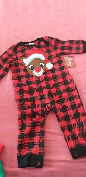 Mameluco Bebe Navideño Reno Navidad