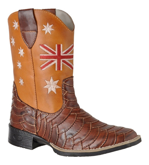 Bota Country Texana Inglaterra Escamada Bico Quadrado 6300