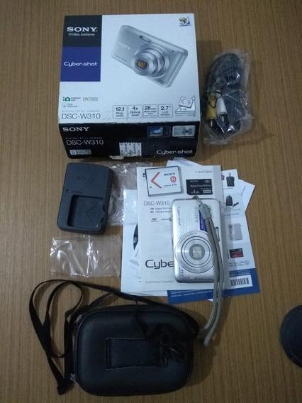 Câmera Digital Sony Dsc-w310 + Cartão 4gb