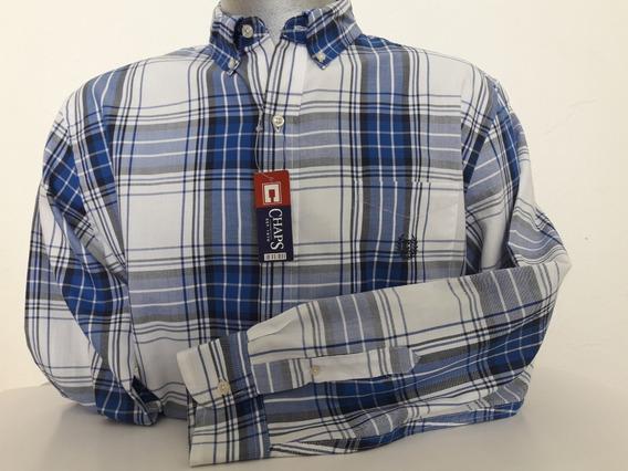 Camisa Casual Marca Chaps Manga Larga