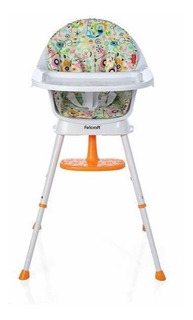 Silla De Comer Bebe 3 En 1 Blossom Felcraft Babero Naranja