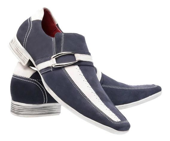 Sapato Casual Social Paulo Vieira Masculino 308 Azul