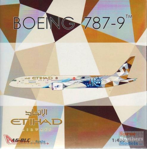 Miniatura Avião Phoenix 1:400 Etihad Boeing 787  Choose Usa