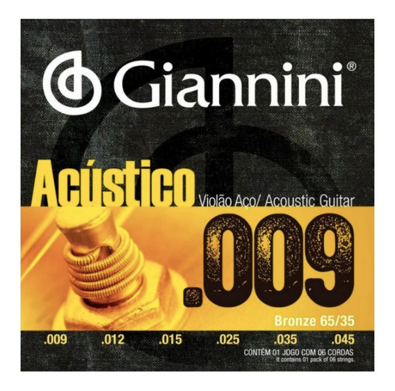 Encordoamento Giannini Aústico Para Violão 09
