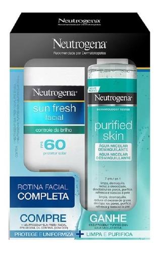 Imagem 1 de 1 de Protetor Solar Facial Neutrogena Sun Fresh Fps 60 Água Micel