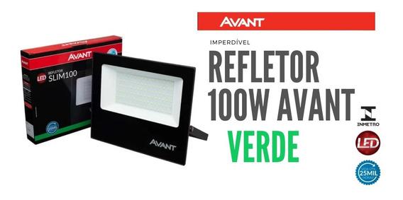 Refletor Led 100w Verde Avant Ip65