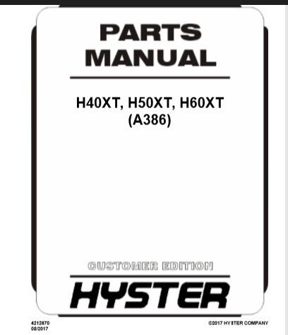 Imagem 1 de 6 de Empilhadeira Manual Manutençao  Familia Hyster Ft,xt,xm