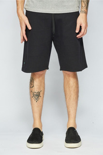 Bermuda Sense Casual Wear Short De Moletom Masculino Preto