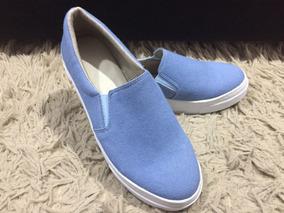 Sliper Tenis Feminino Conforto Calçados Feminino Jeans Claro