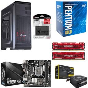 Pc Hunter Pentium G5400 Mb H310m Hg4 Bl 16gb Vs400 Ssd 120gb