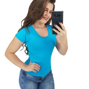 Kit 15 Blusinhas Baby Look Básica Revenda P M G Atacado