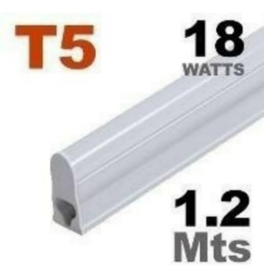 Tubular T5 18w 1,20cm Com Calha - 6500k Branca Fria