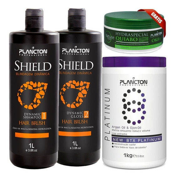 Progressiva Shield Plancton Botox Matizador Mascara Quiabo
