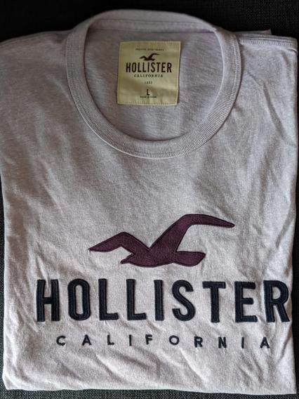 Remera Hollister Hombre - Original- Talle L - Nuevo