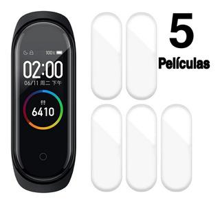 5 Películas Mi Band 4 Xiaomi Super Resistente Promoção
