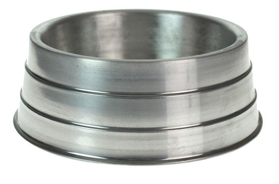 Comedouro Alumínio Pesado Médio Para Cães Alta Durabilidade