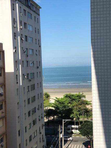 Apartamento 2 Quartos Para Locação, Vista Parcial Para O Mar, Ótima Localização A Uma Quadra Da Praia!!! - Ap2335