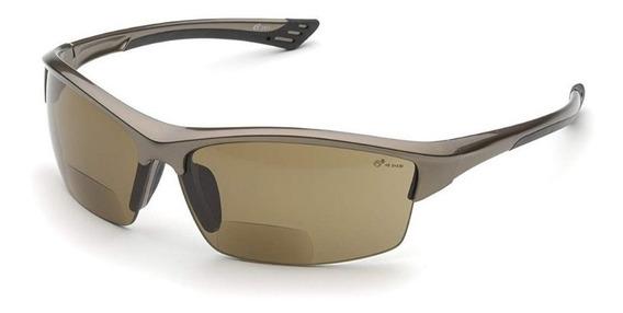 Lentes De Seguridad Elvex Cafes Oscuro Rx-350 Con Aumento Bifocal De +2